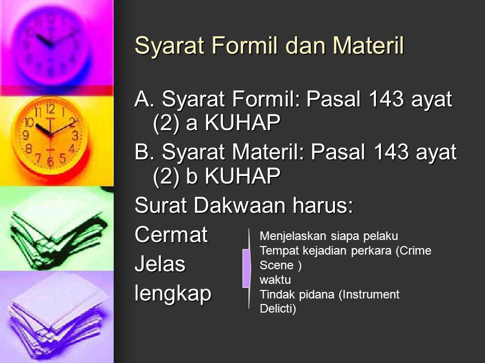 Syarat Formil dan Materil