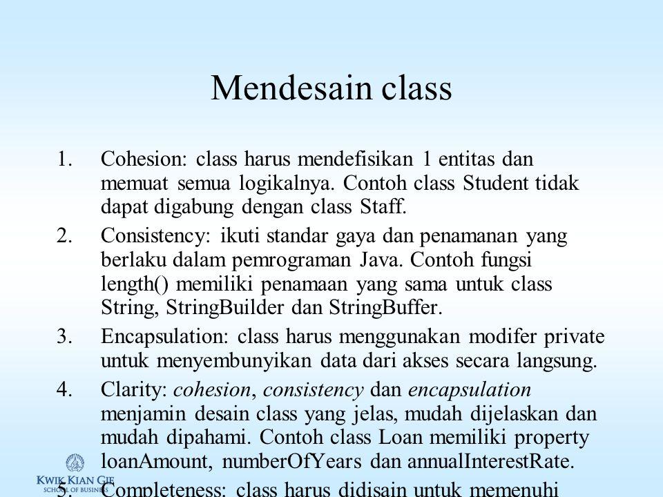 Mendesain class