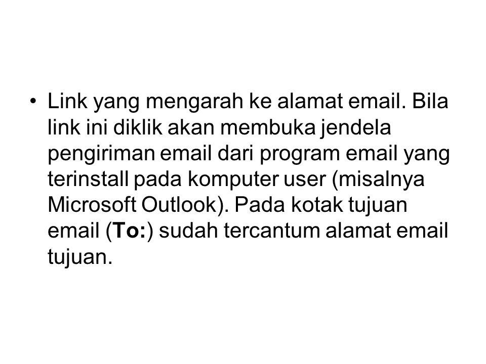 Link yang mengarah ke alamat email