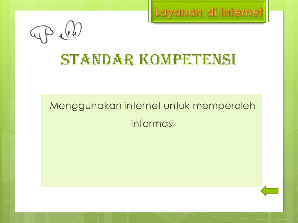 Menggunakan internet untuk memperoleh informasi