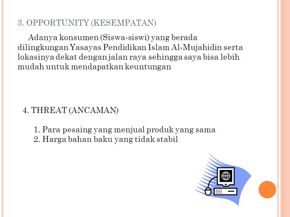 3. OPPORTUNITY (KESEMPATAN)