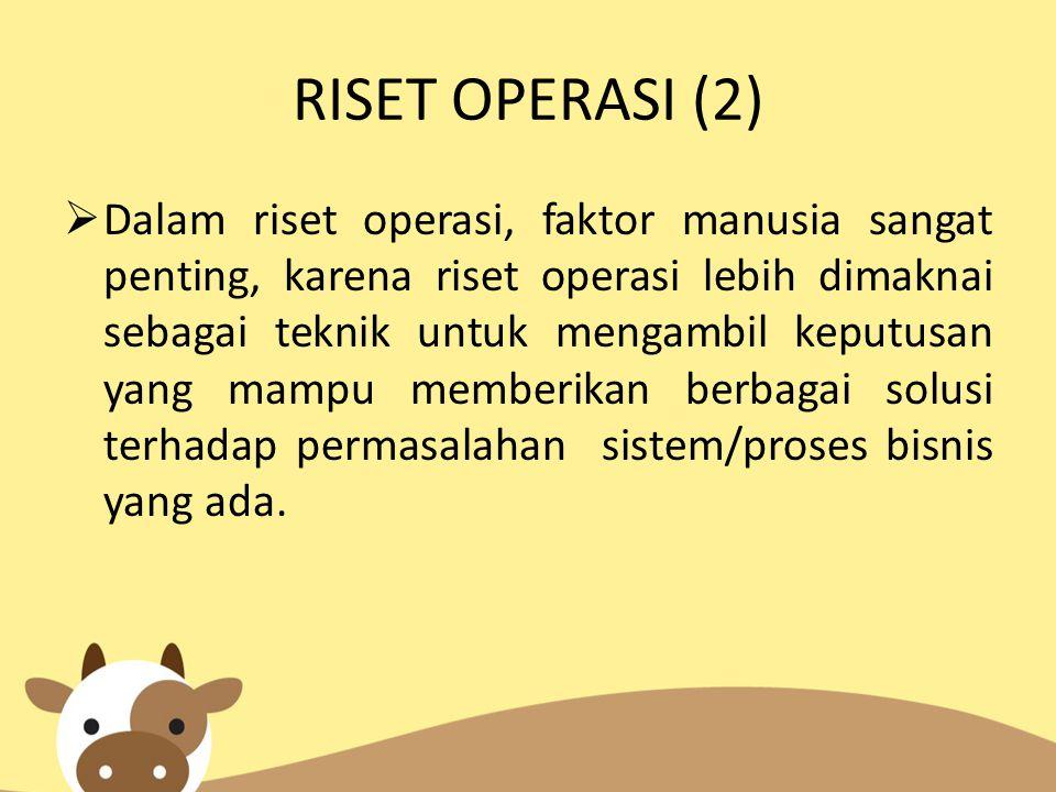 RISET OPERASI (2)