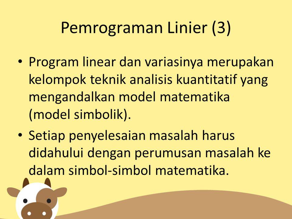 Pemrograman Linier (3)