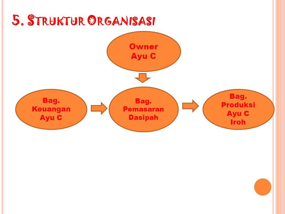 5. Struktur Organisasi Owner Ayu C Bag. Produksi Bag. Keuangan Ayu C