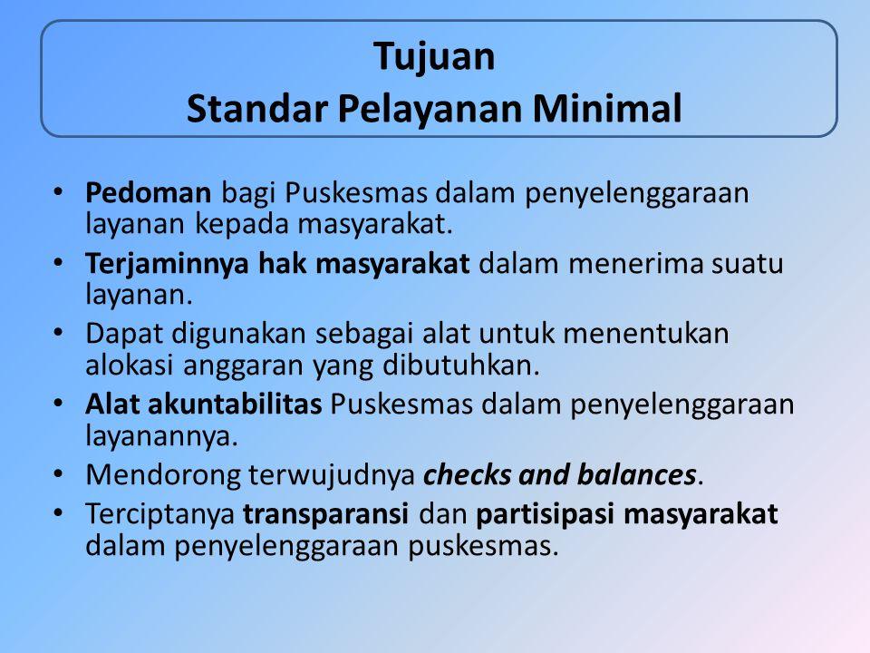 Tujuan Standar Pelayanan Minimal