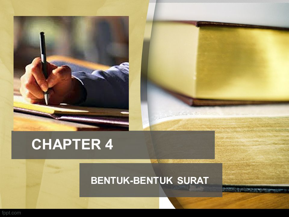 CHAPTER 4 BENTUK-BENTUK SURAT