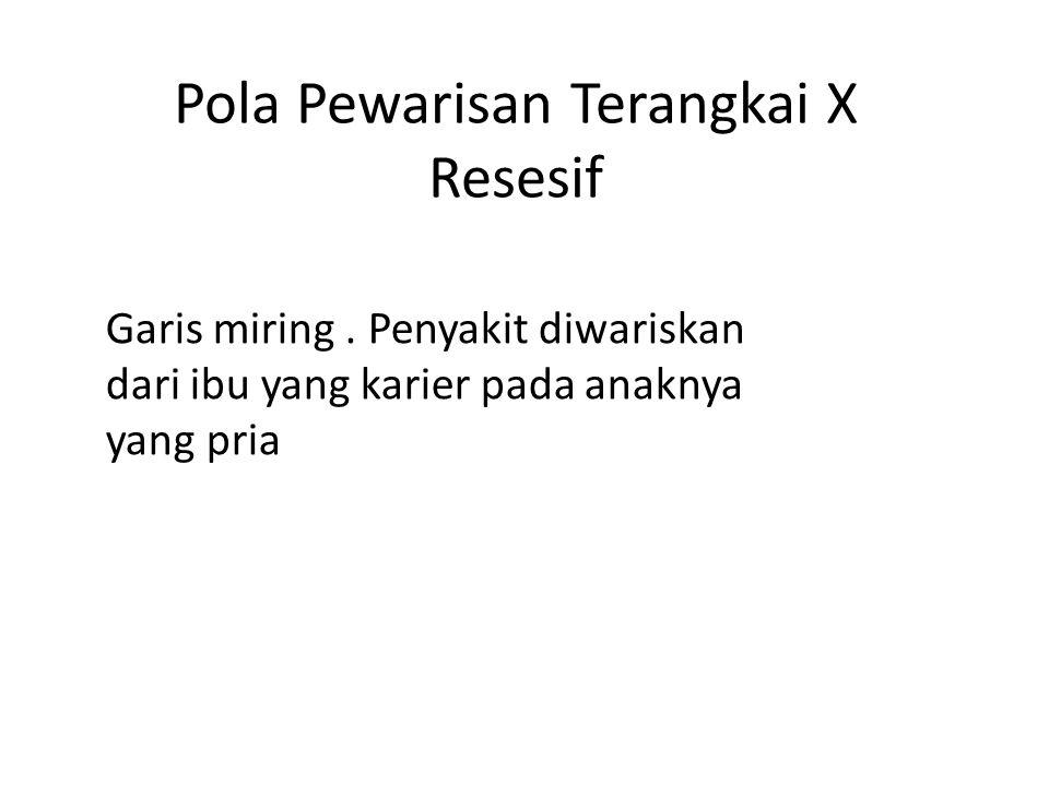 Pola Pewarisan Terangkai X Resesif