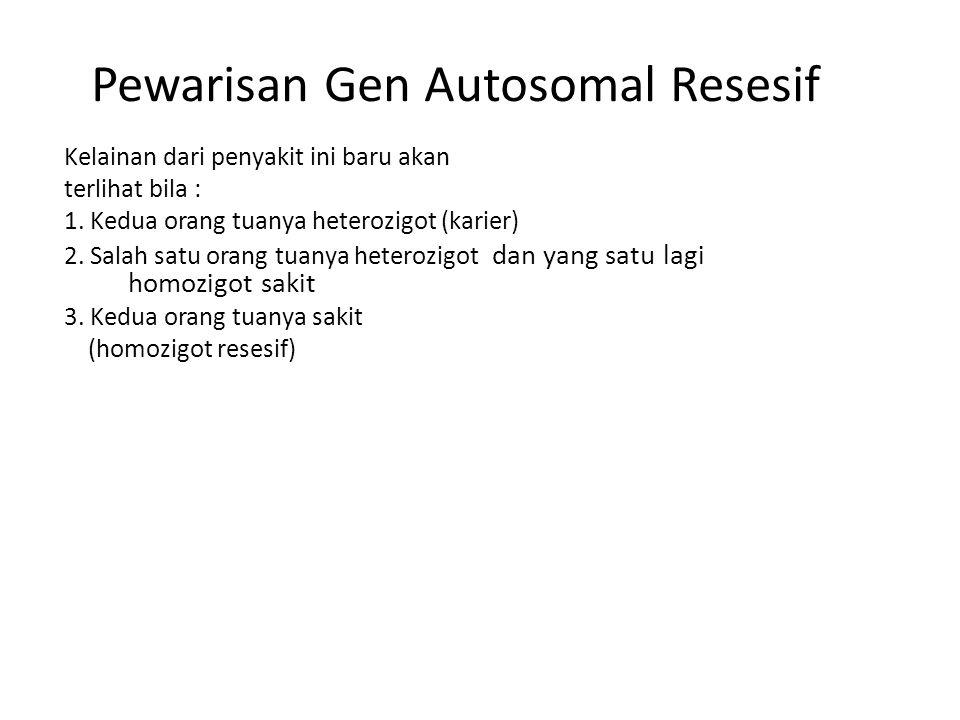Pewarisan Gen Autosomal Resesif