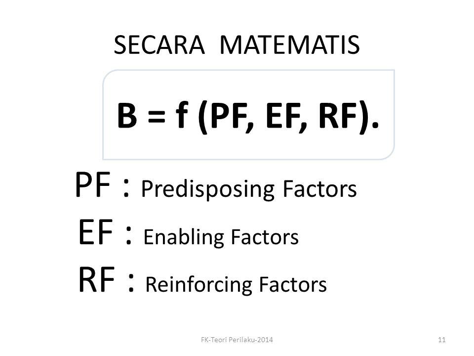 RF : Reinforcing Factors