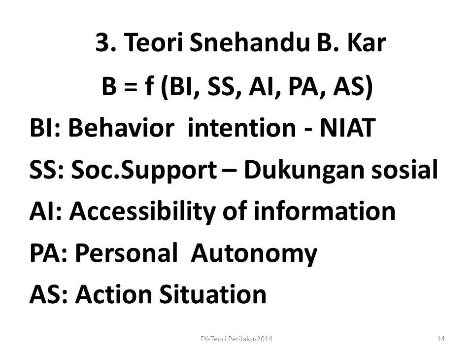 3. Teori Snehandu B. Kar