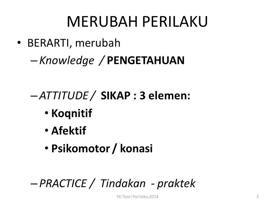 MERUBAH PERILAKU BERARTI, merubah Knowledge / PENGETAHUAN