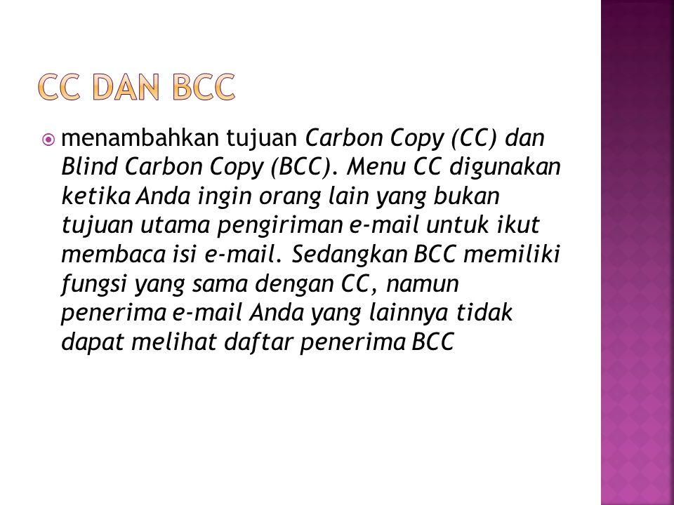 CC DAN BCC