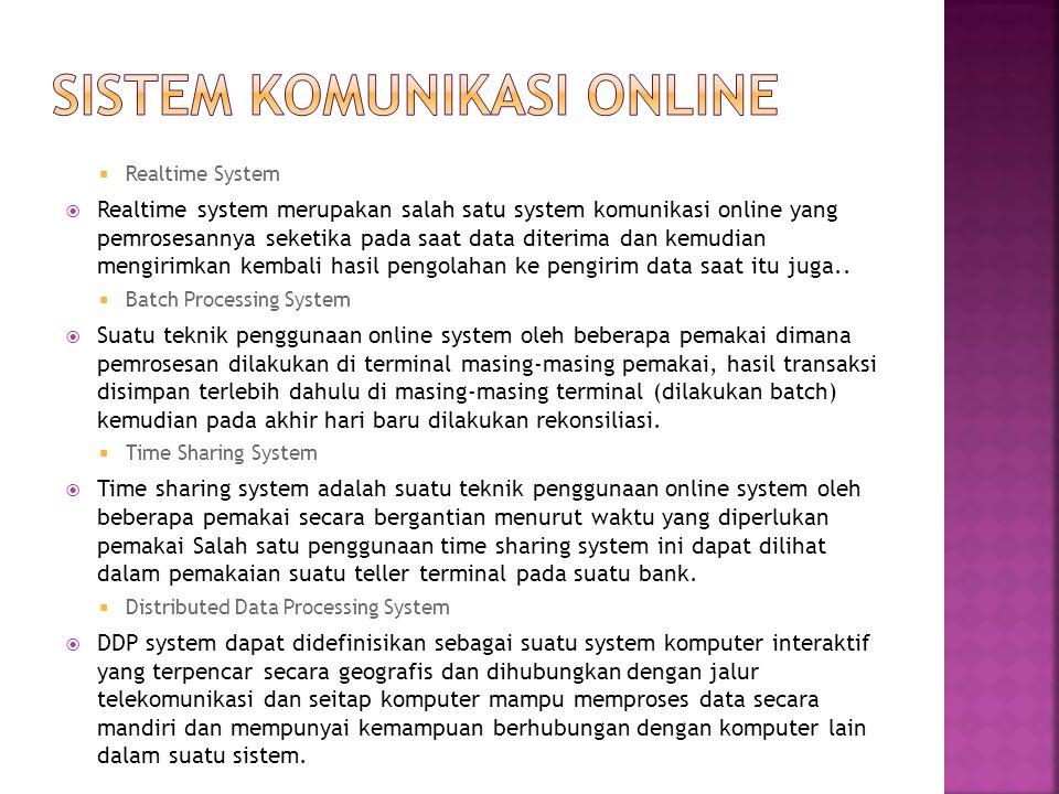sistem komunikasi online