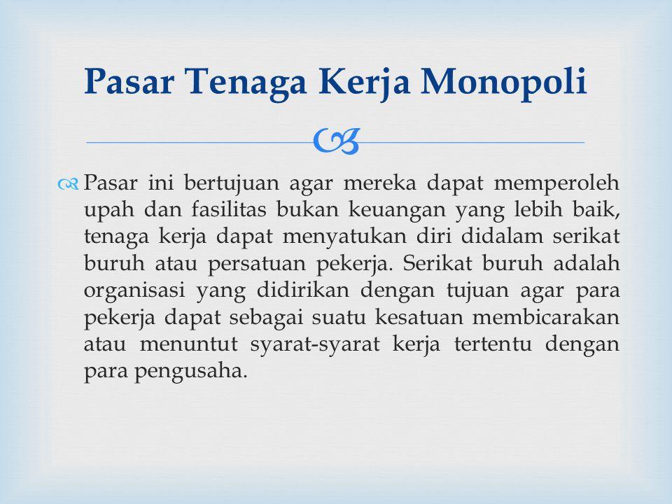 Pasar Tenaga Kerja Monopoli