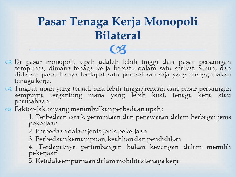 Pasar Tenaga Kerja Monopoli Bilateral