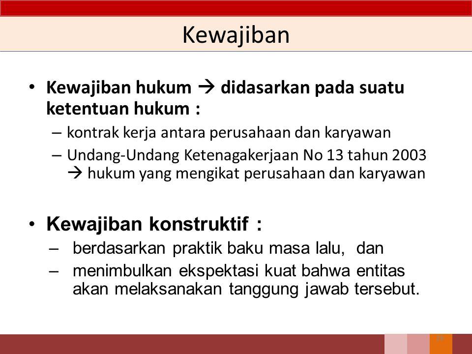 Kewajiban Kewajiban hukum  didasarkan pada suatu ketentuan hukum :
