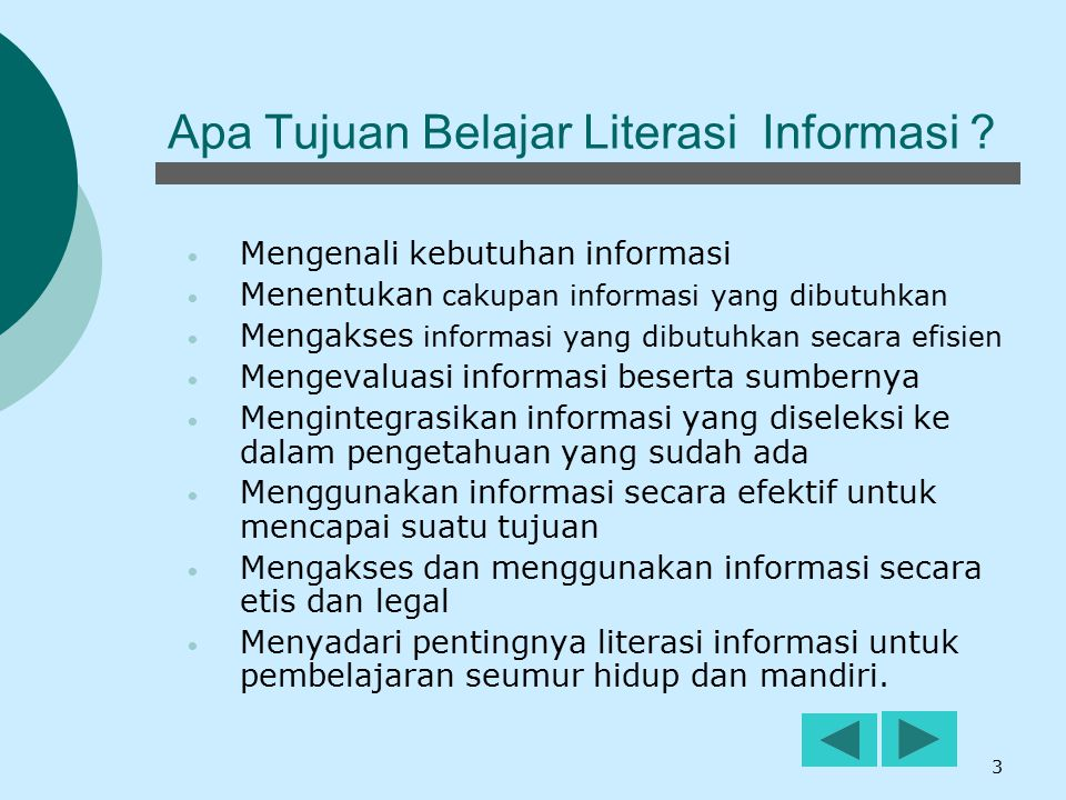 Apa Tujuan Belajar Literasi Informasi