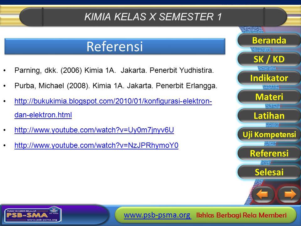 Referensi Beranda SK / KD Indikator Materi Latihan Referensi Selesai