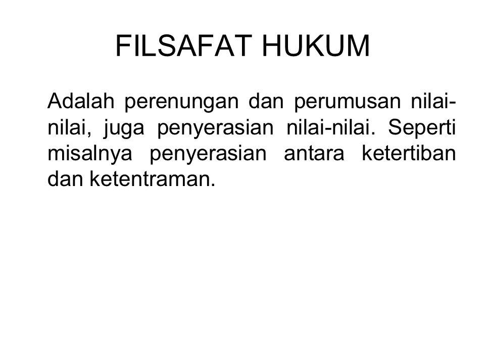 FILSAFAT HUKUM