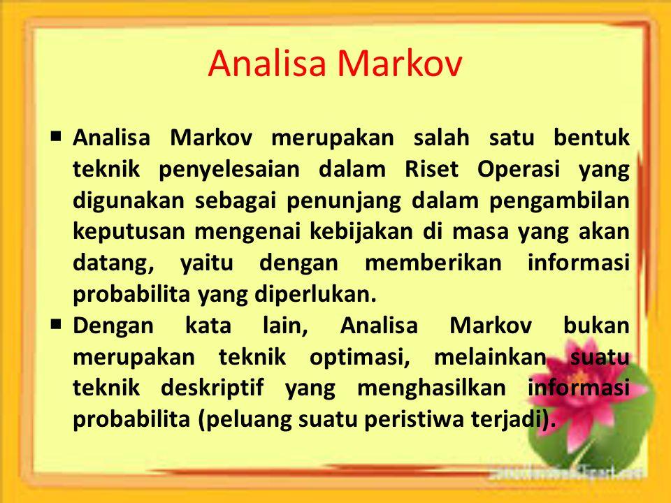 Analisa Markov