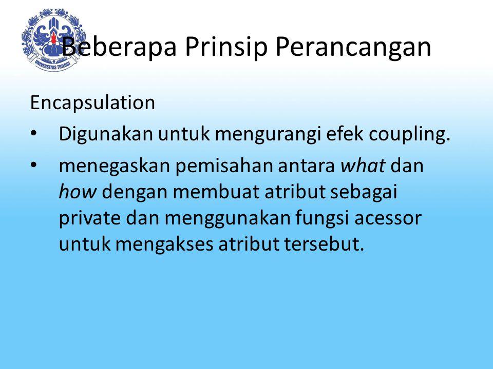 Beberapa Prinsip Perancangan