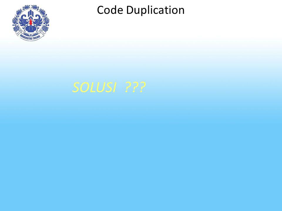 Code Duplication SOLUSI