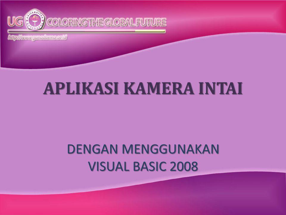 DENGAN MENGGUNAKAN VISUAL BASIC 2008
