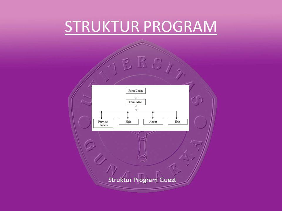 Struktur Program Guest