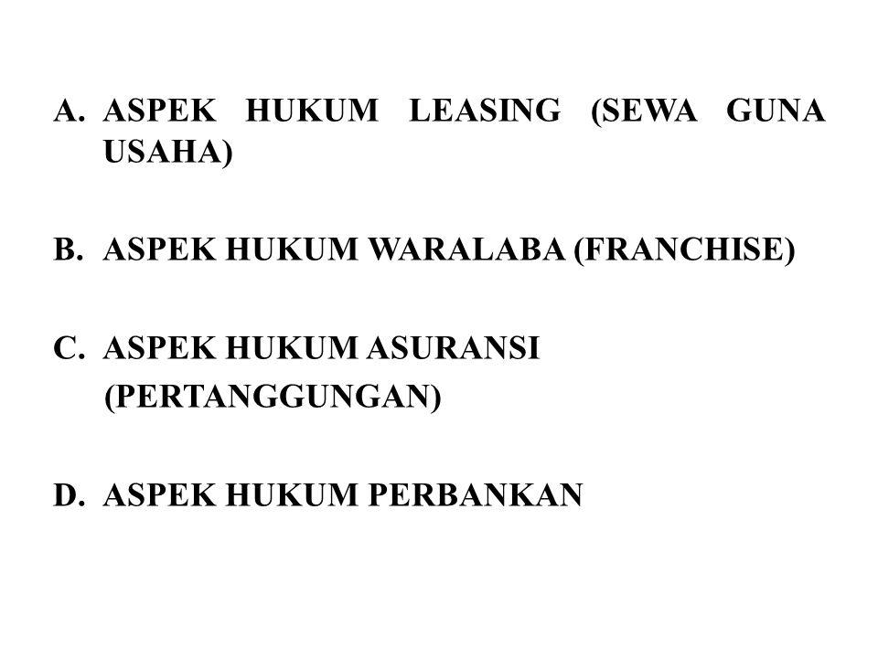 ASPEK HUKUM LEASING (SEWA GUNA USAHA)