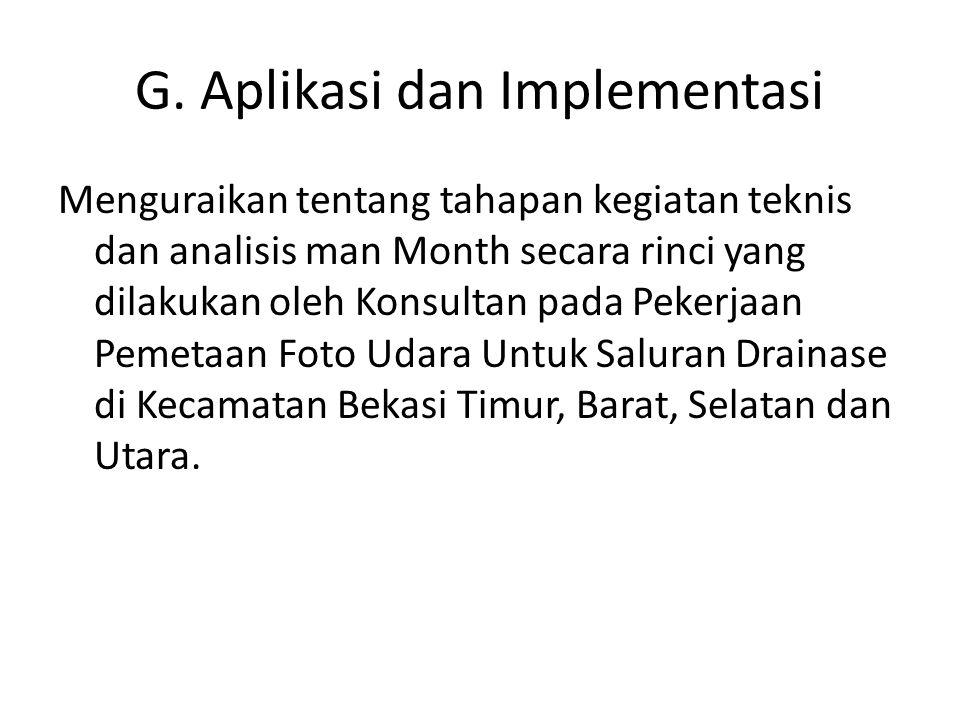 G. Aplikasi dan Implementasi