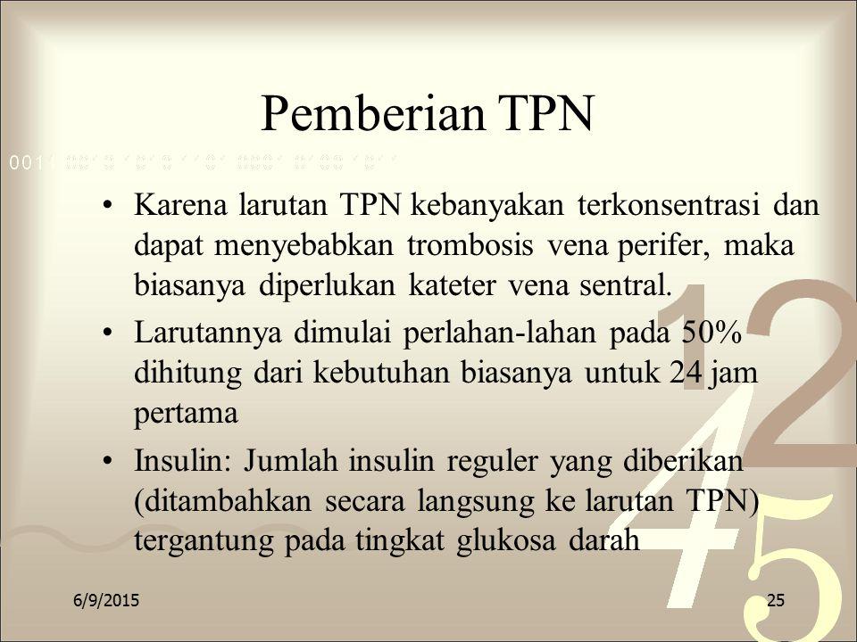 Pemberian TPN