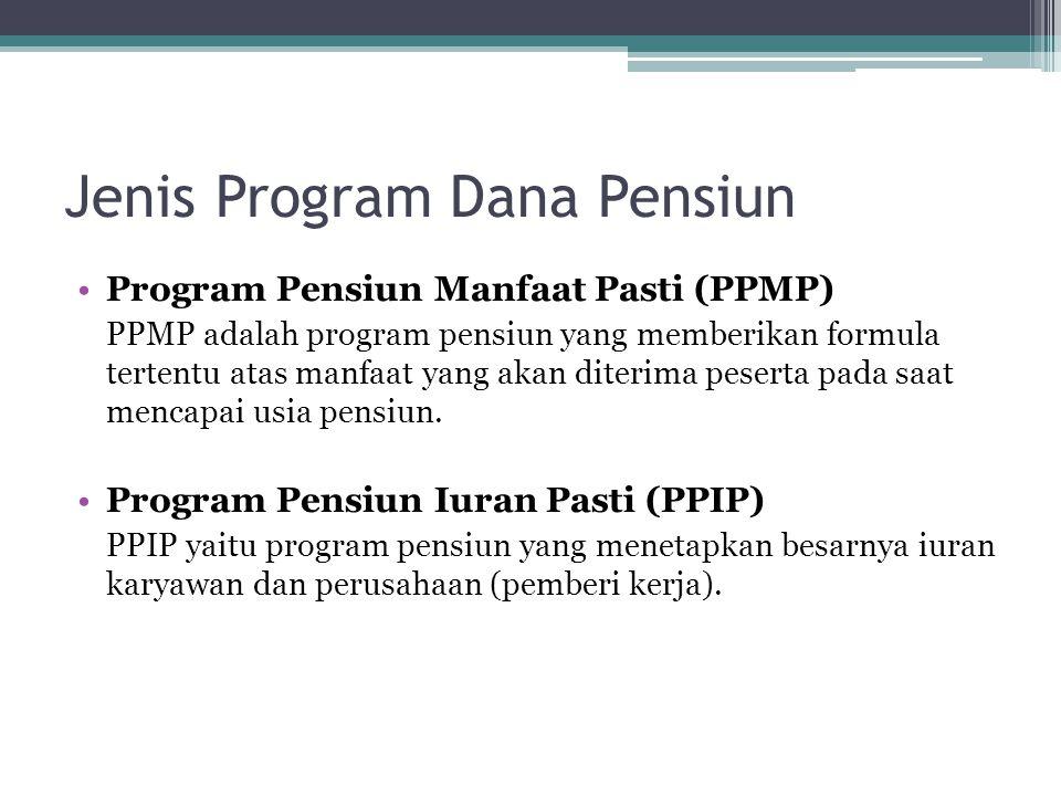 Jenis Program Dana Pensiun