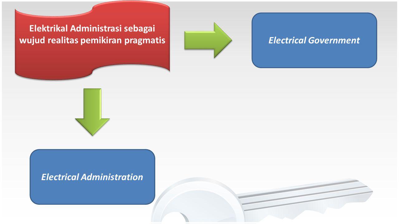 Elektrikal Administrasi sebagai wujud realitas pemikiran pragmatis