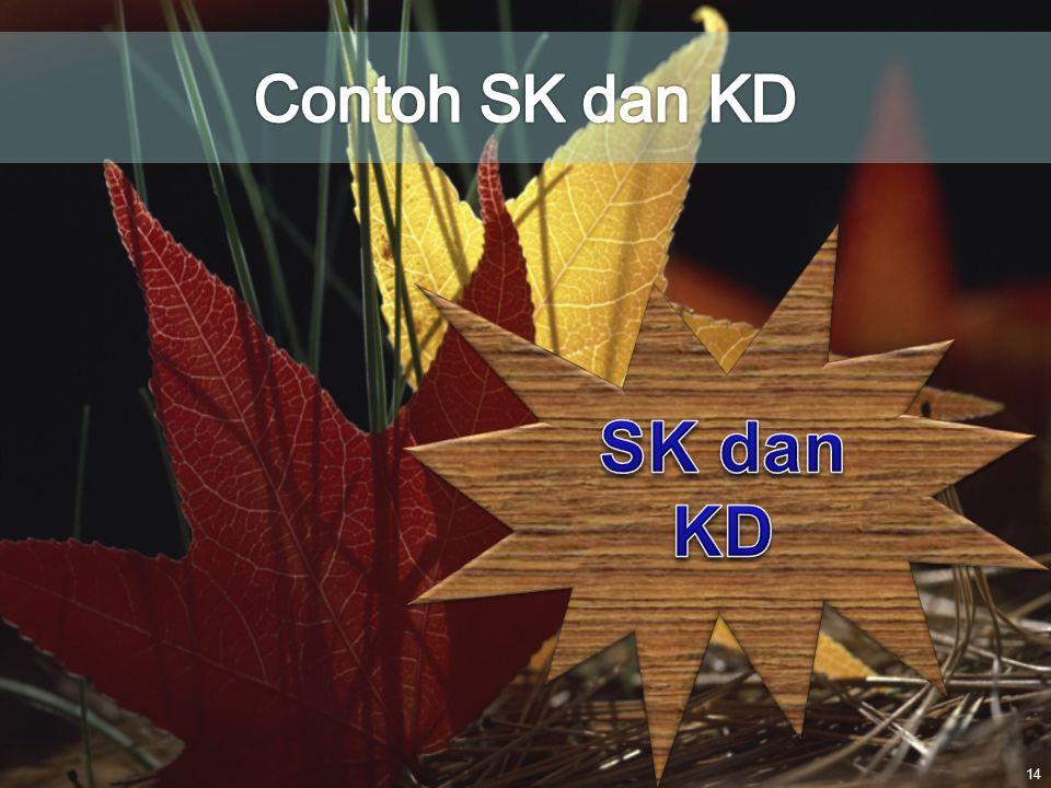 Contoh SK dan KD SK dan KD