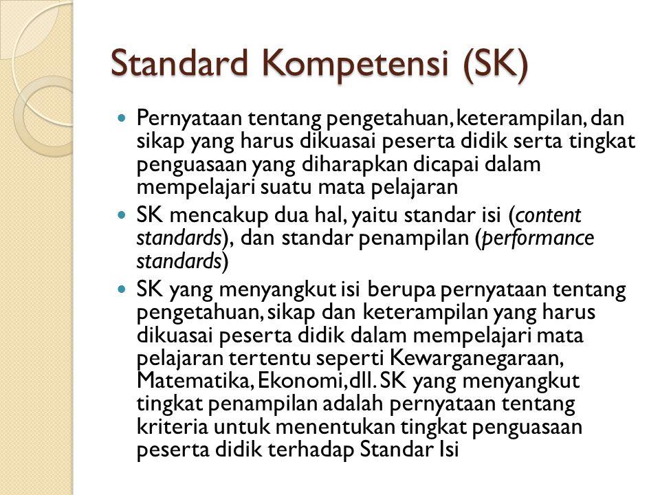 Standard Kompetensi (SK)