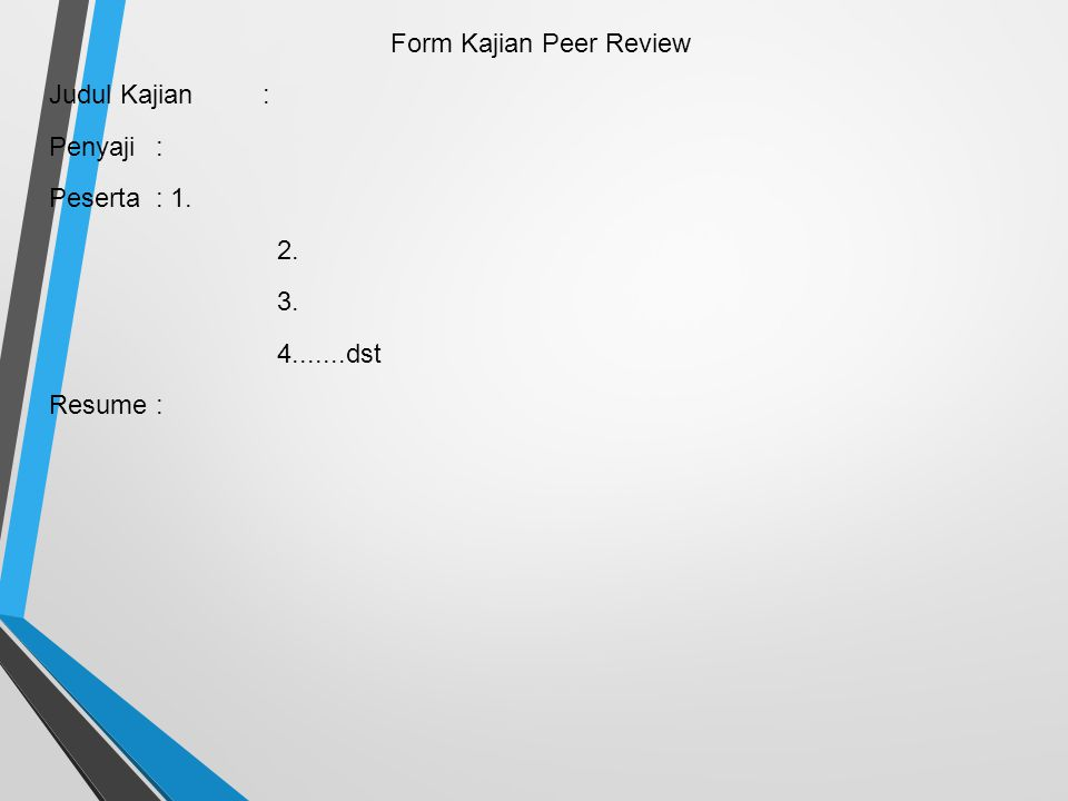 Form Kajian Peer Review