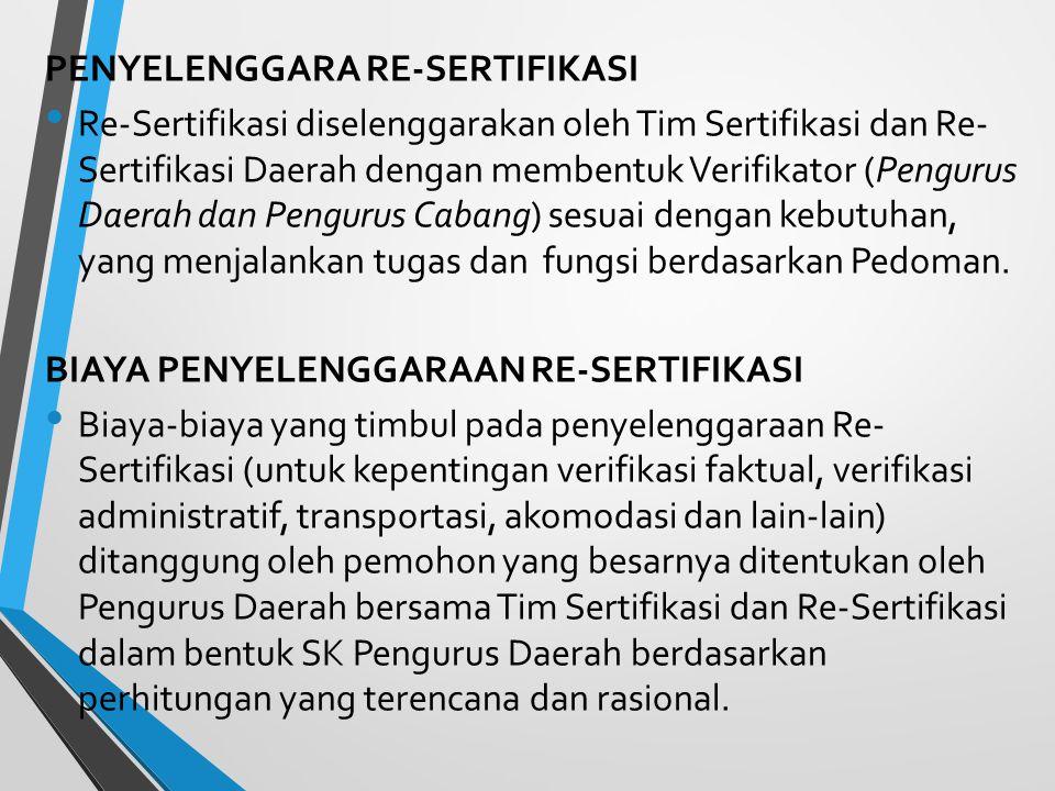 PENYELENGGARA RE-SERTIFIKASI