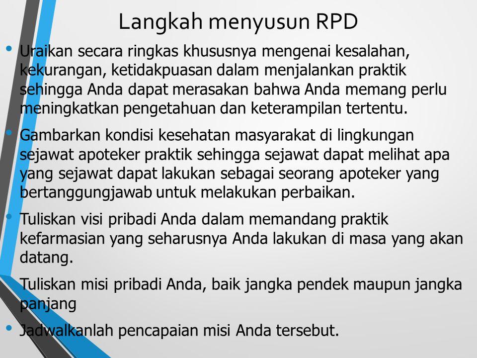Langkah menyusun RPD