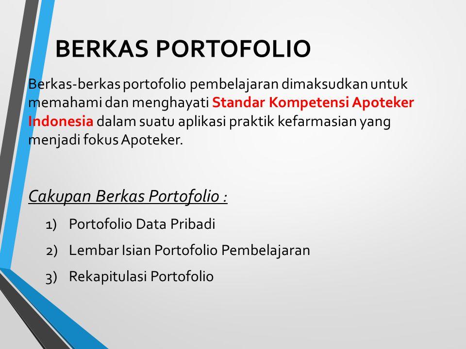 BERKAS PORTOFOLIO Cakupan Berkas Portofolio :