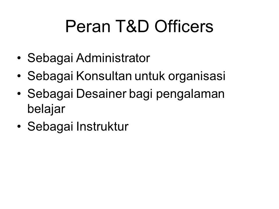 Peran T&D Officers Sebagai Administrator