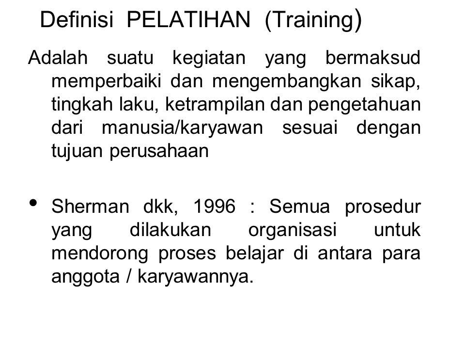 Definisi PELATIHAN (Training)