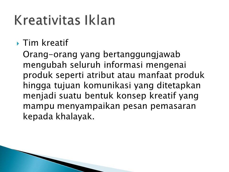 Kreativitas Iklan Tim kreatif