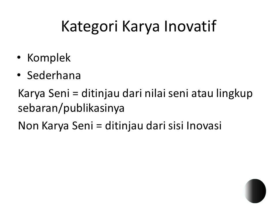 Kategori Karya Inovatif