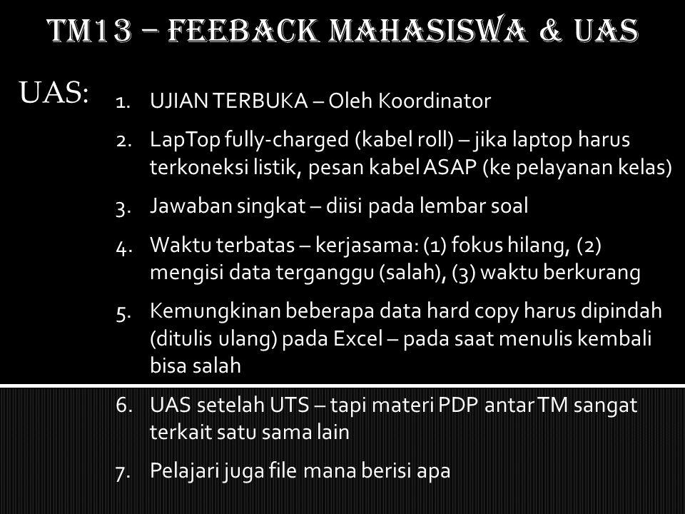 TM13 – feeback mahasiswa & uas
