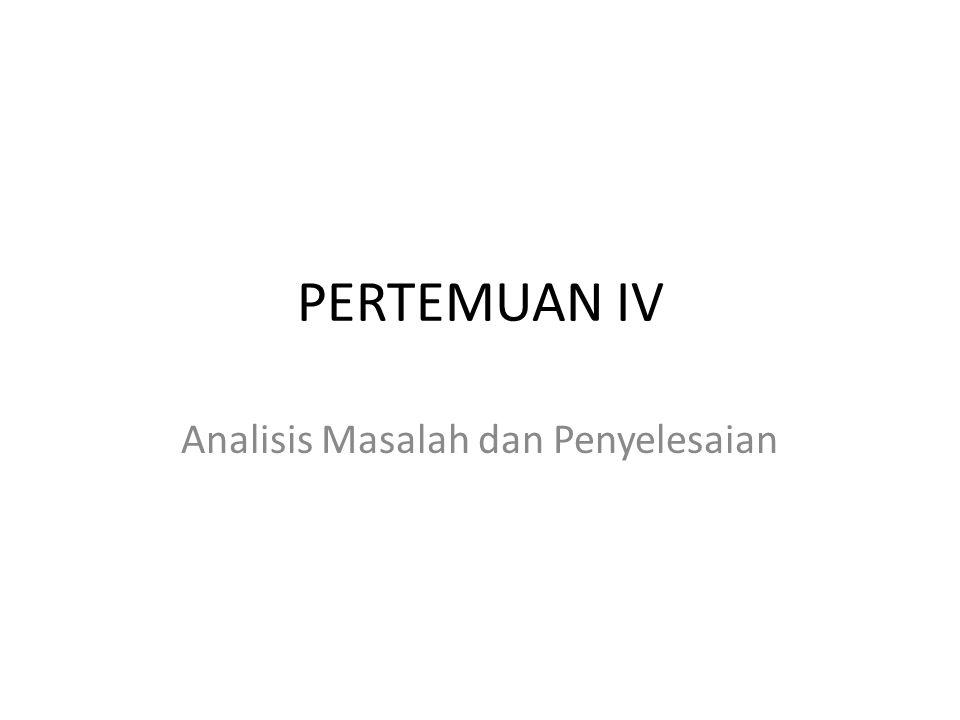Analisis Masalah dan Penyelesaian