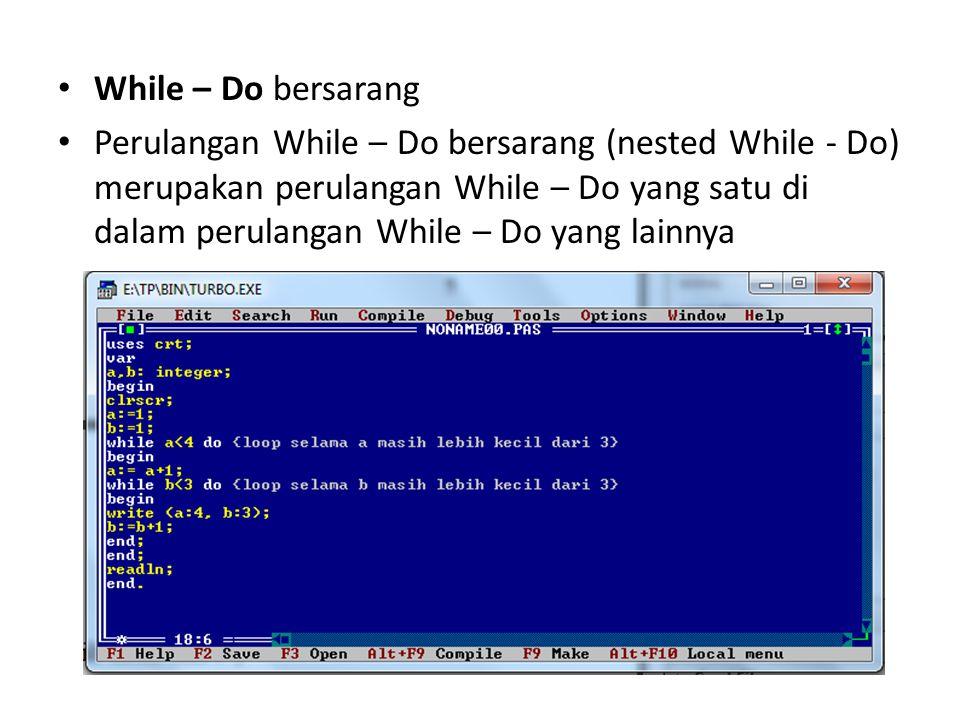 While – Do bersarang