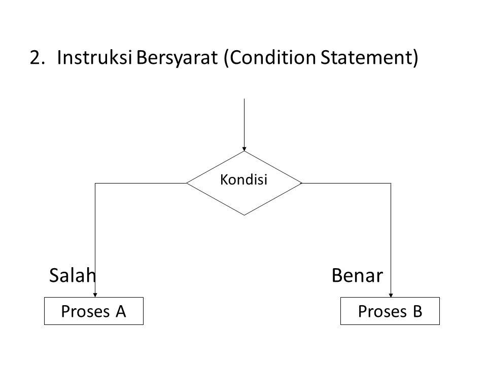 Instruksi Bersyarat (Condition Statement)