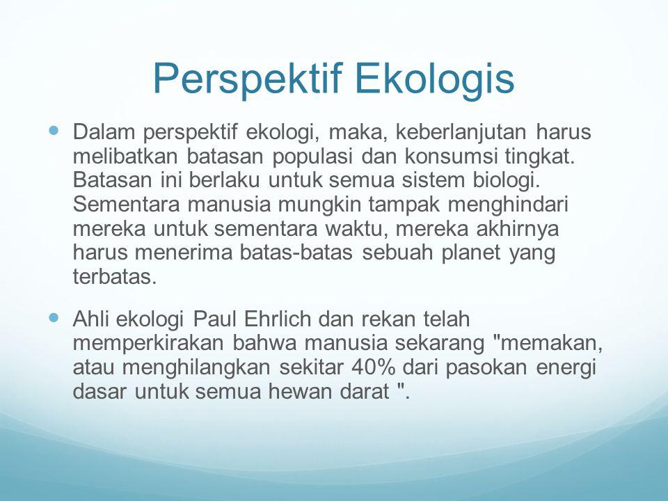 Perspektif Ekologis
