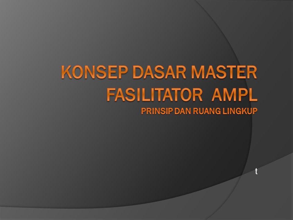 KONSEP dasar master FASILITATOR ampl PRINSIP DAN RUANG LINGKUP