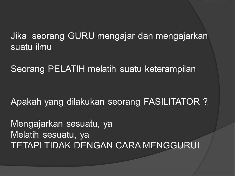 Jika seorang GURU mengajar dan mengajarkan